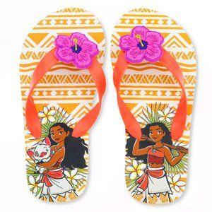 NWT Girls Disney Moana Flip Flop Sandals Size 9-10